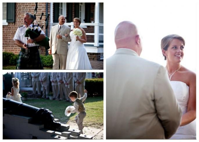 St. Simons wedding in gazebo at St. Simons LIghthouse
