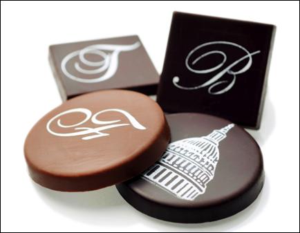 personalized chocolate medallions by edward marc chocolatierr