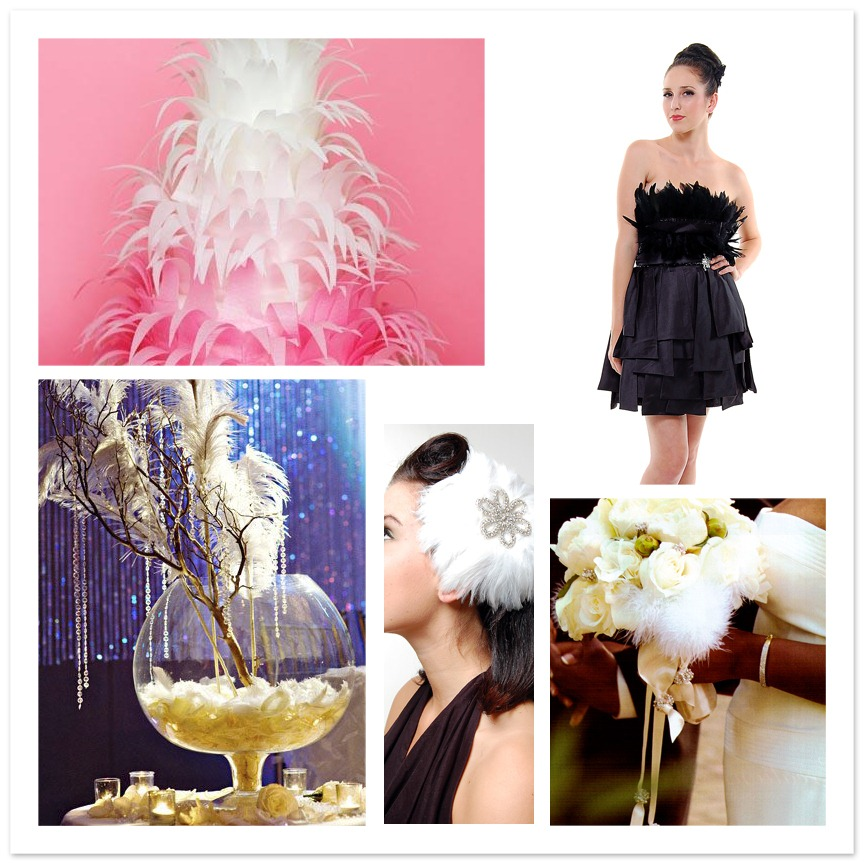 black swan feather wedding event inspiration board ideas feather wedding