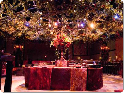 Tuscan Countryside burgundy wine colored inspired Governors Ball 2007