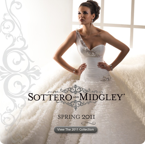 Sottero and Midgley Wedding gown Dress white basque with ruffle skirt