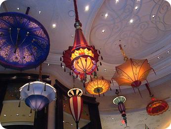 Hanging parasols for wedding decor ideas lighting