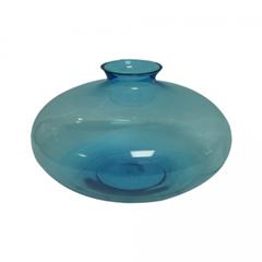 Blue handblown vase centerpiece wedding reception