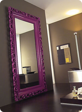 Purple Baroque mirror frame for weddiing decor