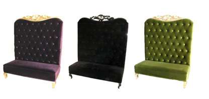 Tufted bench sofa seating Lounge furniture for weddings parties and events