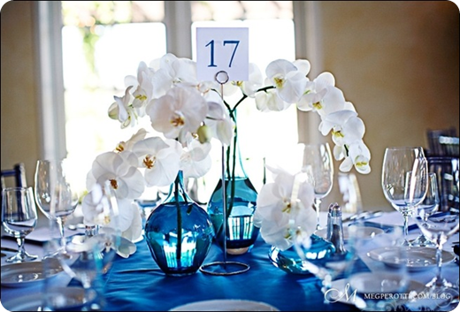 Centerpieces st simons wedding planner island for Decoration de table bleu turquoise