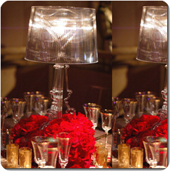 Lampshade Centerpieces for Rose bases
