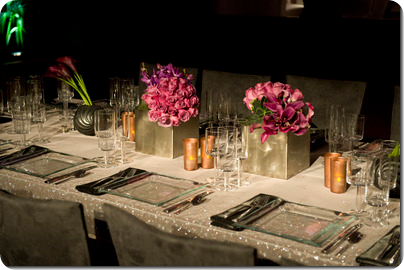 Pink rose centerpieces pink calla lily centerpieces in square silver vases