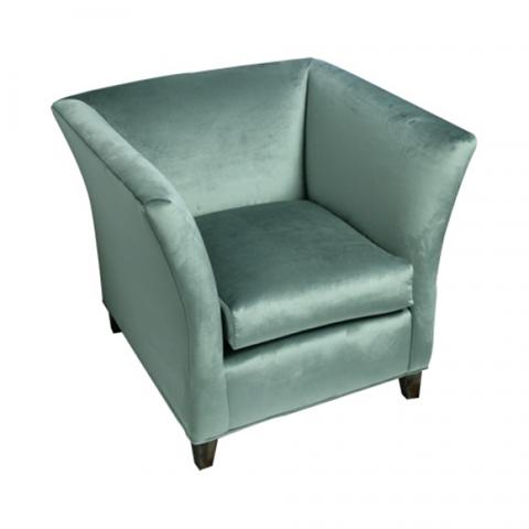 Blue velvet chair for wedding lounge untraditional