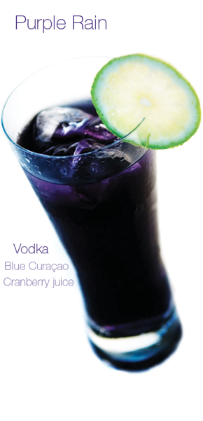 purple rain cocktail signature drink for weddings