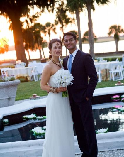 hindu christian wedding on jekyll island at crane cottage jekyll island club hotel