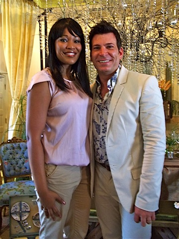 David Tutera of My Fair Wedding who was there to cut the ribbon and the