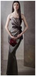 moss strapless long bridesmaids gown vera wang