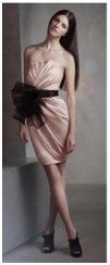 pink and black strapless vera wang bridesmaids dress
