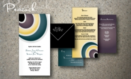 peacock wedding invitation ijorere