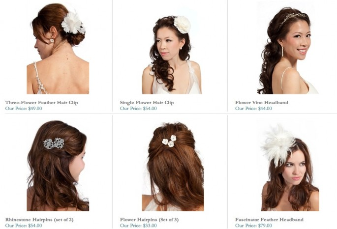 bridal hair accessories for weddings