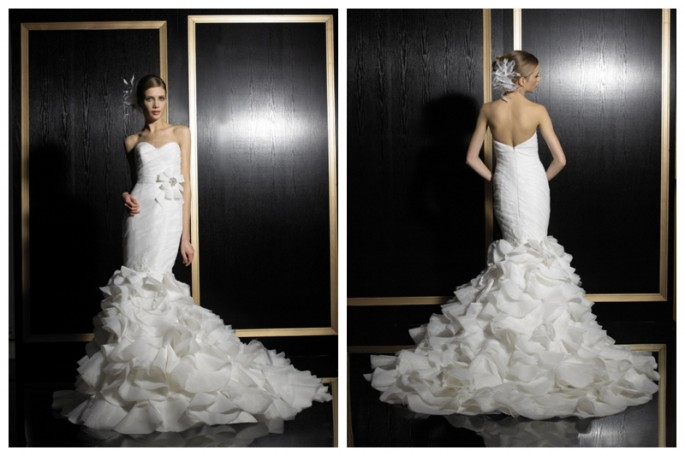 Mermaid Wedding Dress with Ruffled Skirt Val Stefani