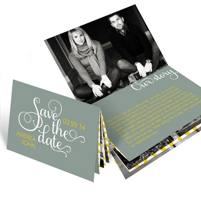 save the date booklet ideas pear tree greeting