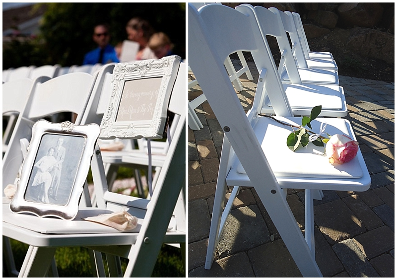 Honor chairs at weddings for a lost loved one