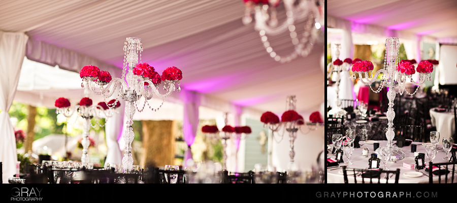 crystal candelabra centerpieces with flowers