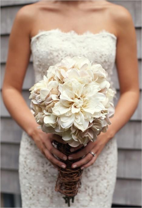 dahlia wedding bouquet for bride