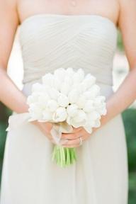 White Tulip Wedding bouquet for bride