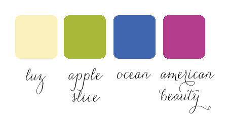 garden wedding color palette
