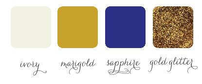 glitter glamorous color palette for wedding