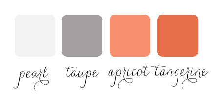 pearl apricot sophisticated color palette for wedding