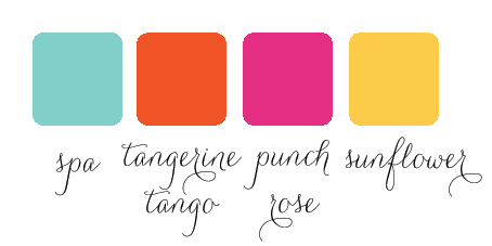 bold color palette for wedding hot pink orange yellow