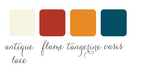 tangerine oasis color palette for wedding