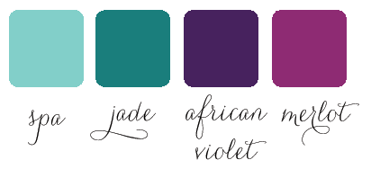 water peacock color palette for wedding