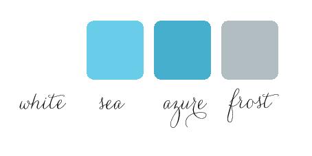 white azure pool color palette for wedding