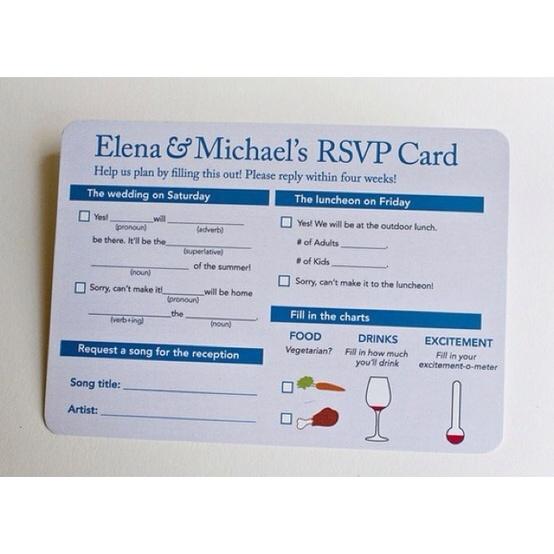 Interactive RSVP Card