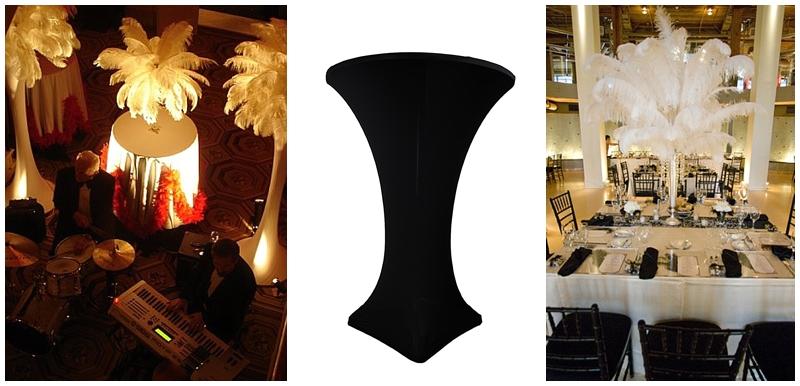 Speakeasy Great Gatsby Wedding Party Decor Spandex linen