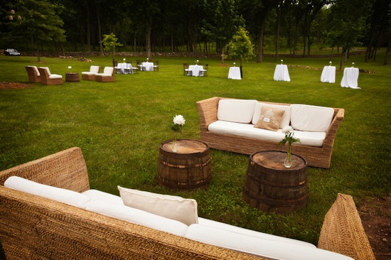 Outdoor Wedding Lounge for Cocktail Style Reception Ideas