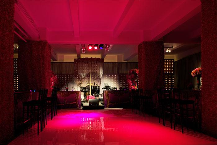 Pink Lighting for Wedding Reception