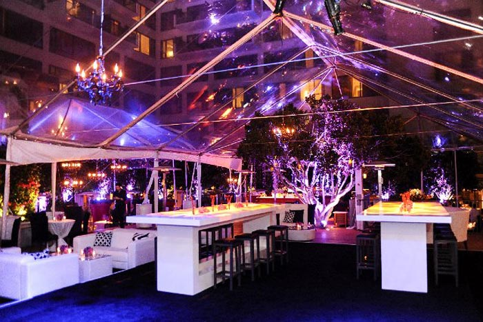 modern style glass tent for weddings