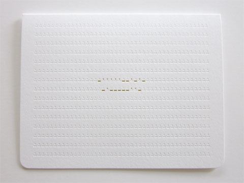 Morse Code Thank You Card