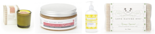 Nature's Love Bath and Body Products