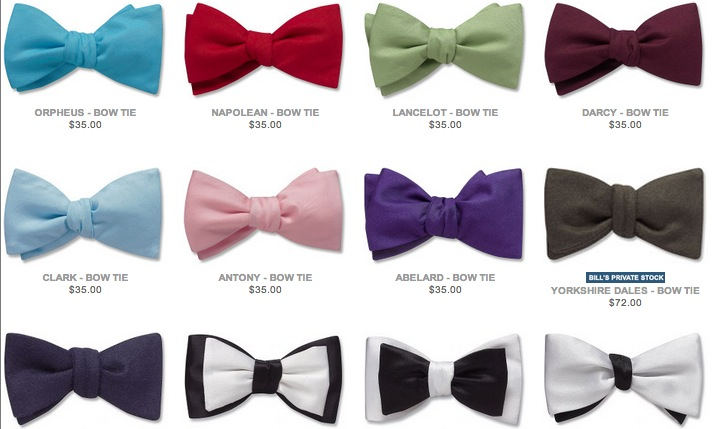 Bow ties for weddings and special events from Beau Ties