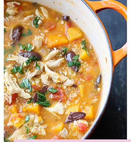 Fall Entertaining butternut squash soup stew