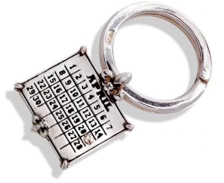Wedding Date Calendar Keychain Gift