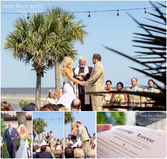 beach wedding ocean saint simons island