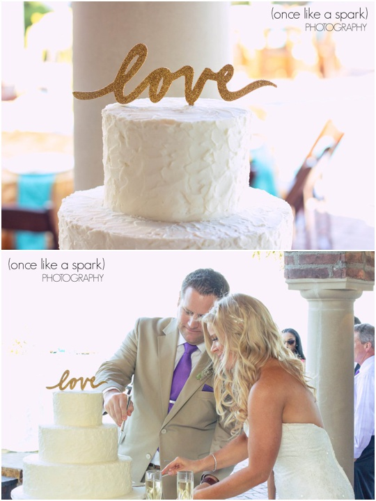wedding cake on saint simons island
