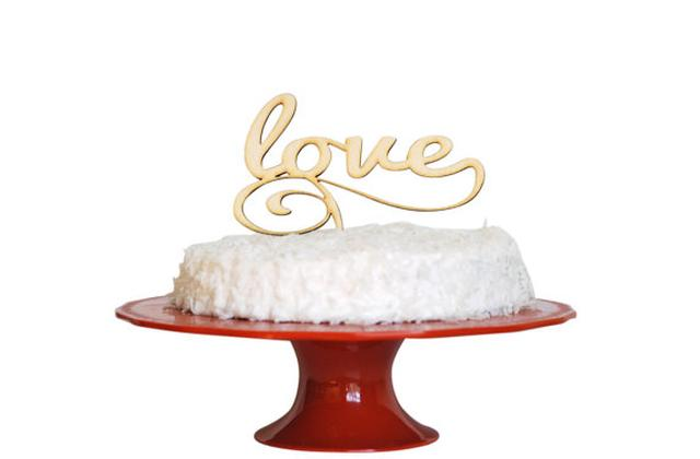 personalized laser cut cake topper