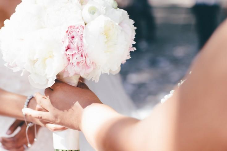 peony blush white ivory pink wedding bridal bouquet
