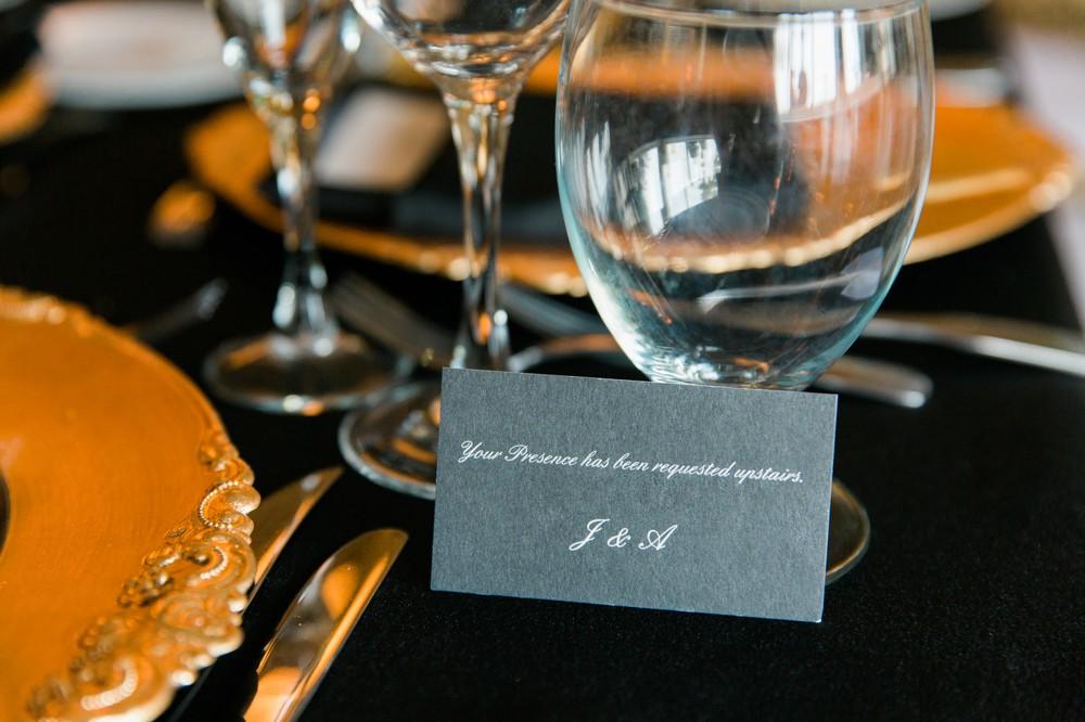 Speakeasy invitation card Gatsby wedding