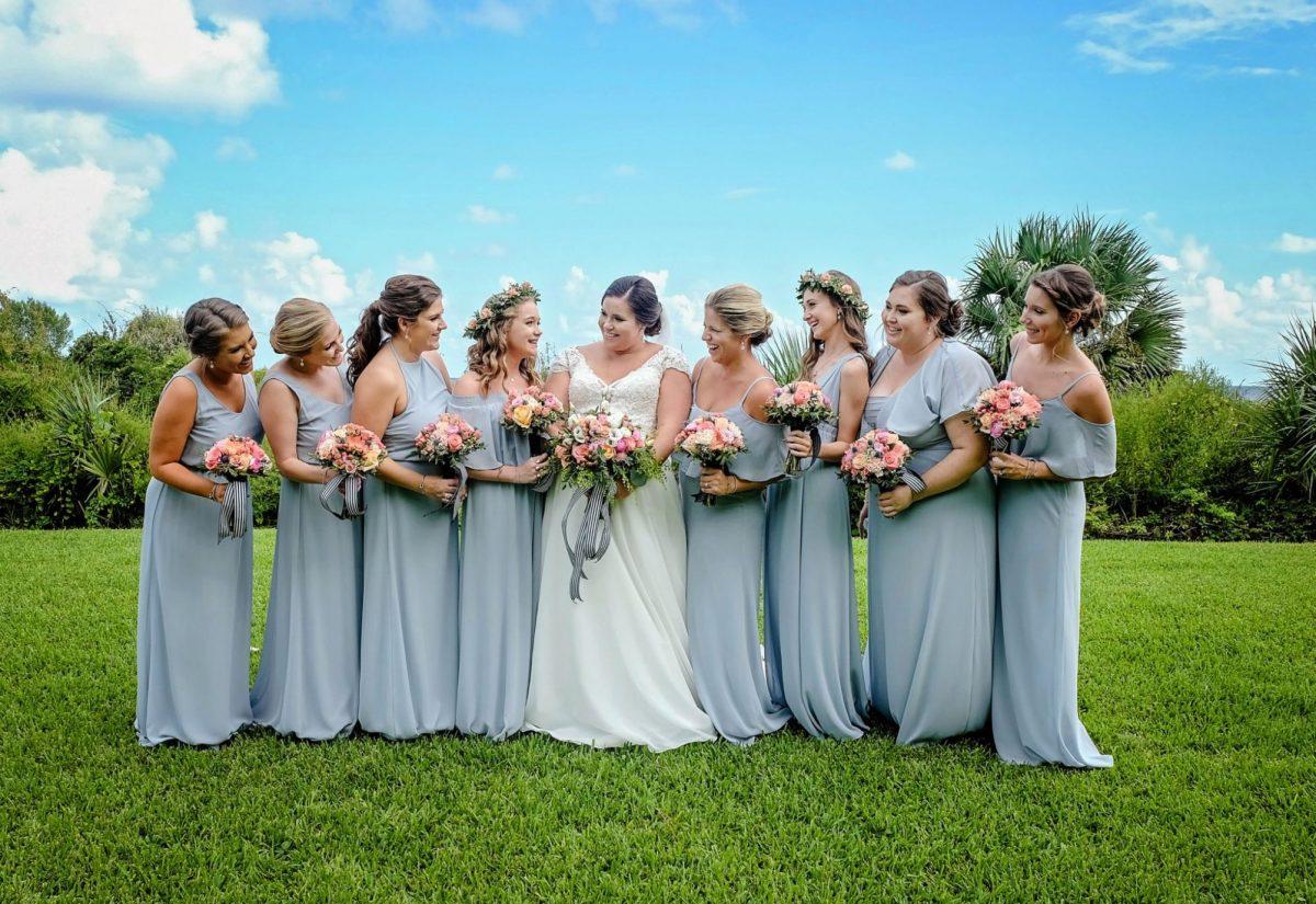 Bridal Party at the King and Prince Resort Wedding