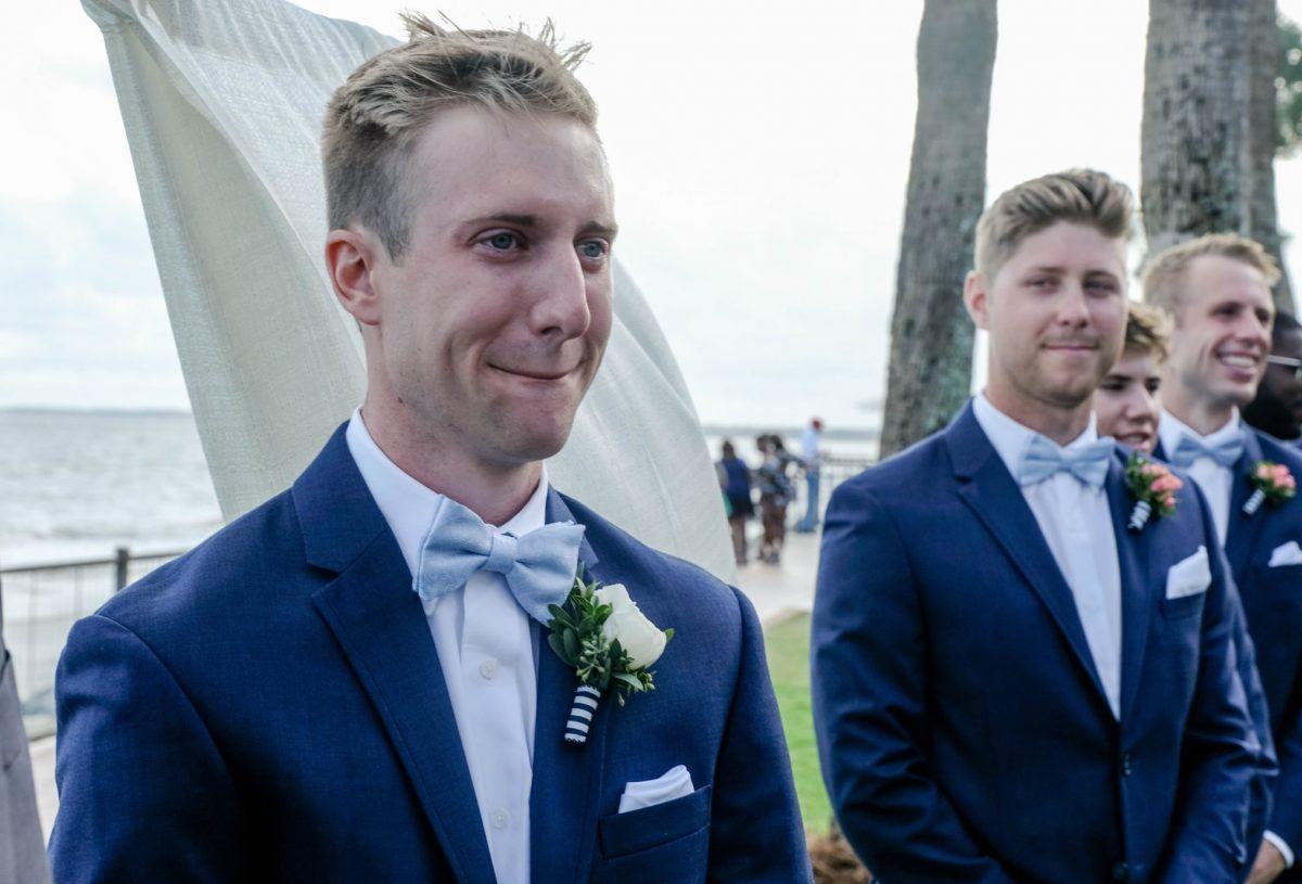 Delegal Lawn Wedding Ceremony King and Prince Saint Simons Island